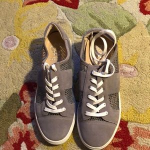 Vince Camuto Suede and Mesh Grey Sneakers